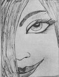 有微笑的一个美丽的女孩 免版税库存图片