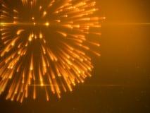 有微粒的美丽的明亮地金烟花 免版税库存图片
