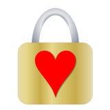 有心脏的挂锁 免版税图库摄影