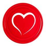 有心脏的红色盒盖 图库摄影