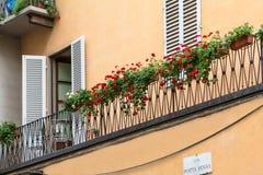 有快门的老房子在佛罗伦萨,意大利 库存图片