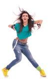 有态度的妇女舞蹈演员 免版税库存照片