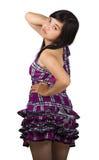 有性感的姿势的亚裔女孩 库存图片
