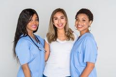 有患者的护士 免版税库存照片