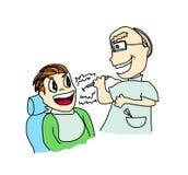 有患者的牙科医生 库存例证