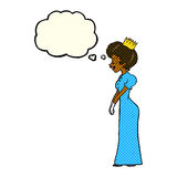 有想法泡影的动画片公主 免版税库存照片