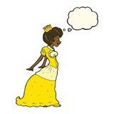 有想法泡影的动画片公主 库存图片