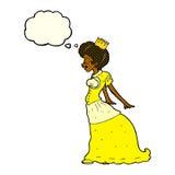 有想法泡影的动画片公主 免版税库存图片