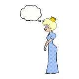 有想法泡影的动画片公主 库存照片