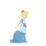 有想法泡影的动画片公主 免版税图库摄影