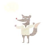 有想法泡影的动画片愉快的狼佩带的衬衣 向量例证