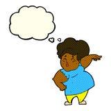 有想法泡影的动画片愉快的超重夫人 免版税库存图片图片
