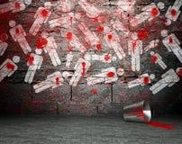 有战争符号的,街道背景街道画墙壁 库存照片