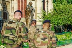 有战士的教宗若望保禄二世 库存图片