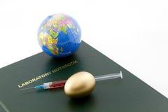 有战略意义企业全球投资的科学 免版税库存图片