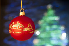 有手工制造装饰的美丽的cristmas玩具 库存照片