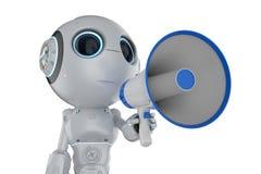 有扩音机的微型机器人 皇族释放例证