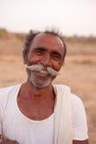 有把手髭的印第安人 图库摄影