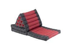 有折叠能床垫的三角泰国枕头 库存图片