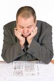 有抱负的智商测试 免版税库存照片