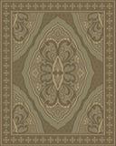 有抽象花的地毯 皇族释放例证