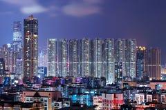 有拥挤大厦的香港 库存图片