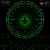 有指南针的雷达显示器 免版税库存图片