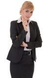 有指导姿态的女实业家 免版税库存照片