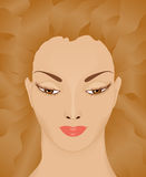 有振翼的头发的妇女 图库摄影