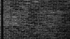 有排水管的-阴沉的都市难看的东西backgroun黑砖墙 免版税库存图片