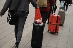 有排的LOUGAGE旅客 库存图片