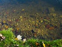有排水设备的美丽的河 库存图片