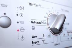 有控制板的洗衣机 免版税库存照片