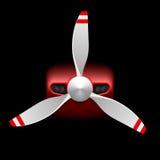 有推进器的小型飞机 免版税库存照片