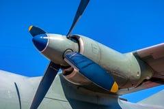 有推进器的涡轮螺旋桨引擎 特写镜头 库存图片