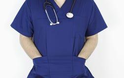 有描述医疗领域的听诊器的医生 库存照片