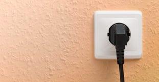 有插座的唯一电源插座 免版税图库摄影