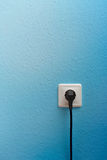 有插座的唯一电源插座 库存图片
