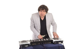 有搅拌器的DJ 免版税库存图片