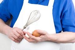 有搅拌机的主厨 免版税库存图片