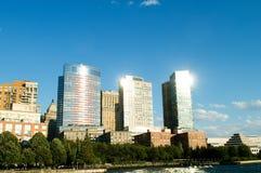 有摩天大楼的纽约全景 图库摄影