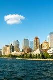 有摩天大楼的纽约全景 库存图片