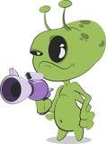 有放射枪的外籍人 免版税库存照片