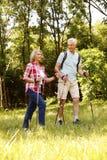 有效的夫妇前辈 免版税库存照片