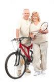 有效的夫妇年长的人 免版税库存照片
