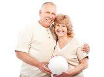 有效的夫妇年长的人 库存图片