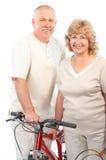 有效的夫妇年长的人 免版税图库摄影