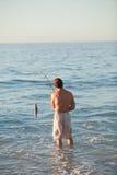 有效的捕鱼人海运 库存图片