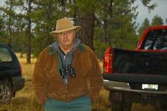 有效的猎人男性前辈 免版税库存照片