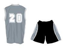 有效的短裤体育运动无袖衫穿戴 免版税库存图片